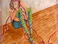"""Serie: """"Das rote Seil"""".  Mädchen Aquarell auf Hahnemühlen papier"""