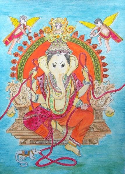 """Serie das rote Seil: """"Ganesha"""""""
