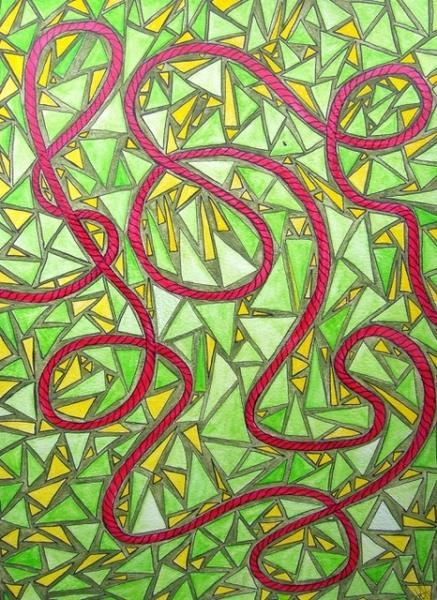 """Serie das rote Seil: """"klirrendes Grün"""""""
