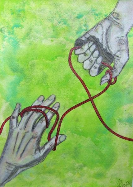 """Serie das rote Seil: """"Hände"""""""