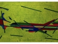 MD11 Projekt Bild nr: 32. Kopfabdruck, acryl auf Leinwand. 80 x 40.